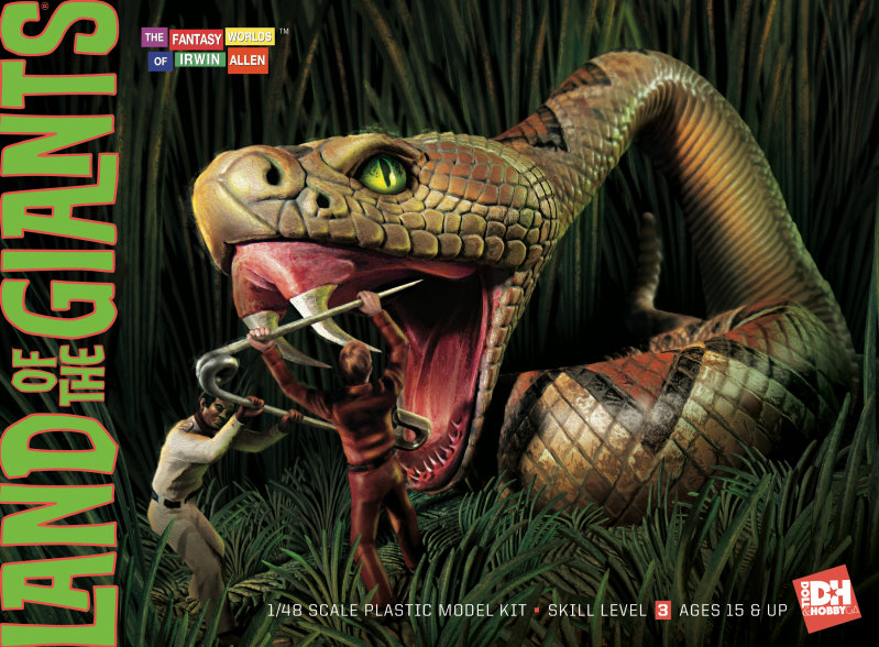 Land of the Giants Snake diorama box cover